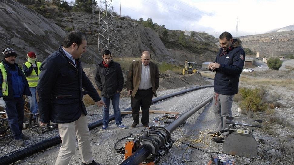 Diputación ejecuta trabajos para la mejora del abastecimiento de agua potable en Dúrcal
