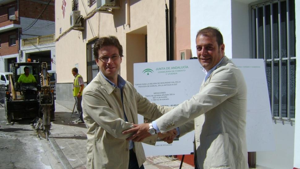 La Junta inicia las obras para adecuar y mejorar la seguridad vial de la travesía de Dúrcal